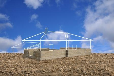cantieri edili: progetto di costruzione di una casa