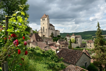 this small French village of Saint-cirq-Lapopie, is classified a historical monument Editorial