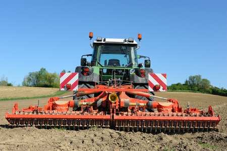 agriculture machinery: field work in the countryside