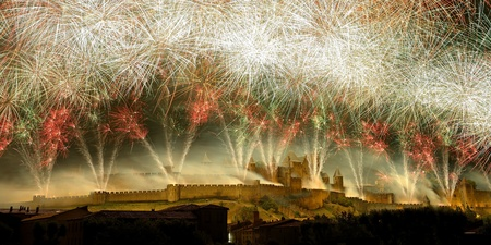 the most beautiful fireworks French, to the city of Carcassonne