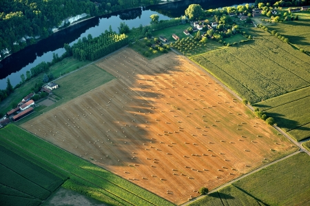 campaigns: a French landscape view from the air Stock Photo