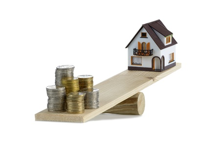 housing styles: concept of the cost of a home Stock Photo