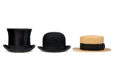 drie oude hoeden ontstaan voormalige