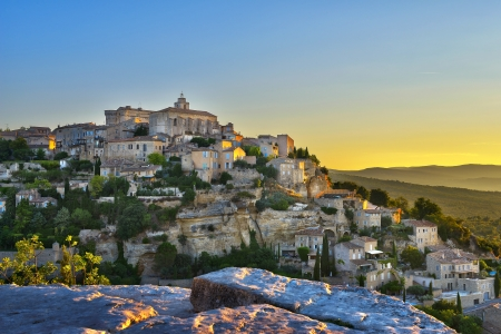 gordes: Gordes, one of the most beautiful and most visited French villages  Stock Photo