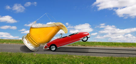 the danger of drinking and driving Stock Photo - 23246504