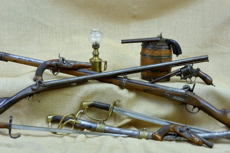 vintage gun: collection of old weapons of the past