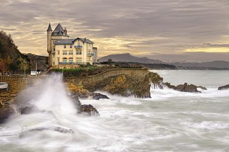 Seaside kasteel in Biarritz in de Baskische regio in het zuiden van Frankrijk