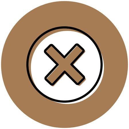 Cancel button icon. Delet button Stock Photo