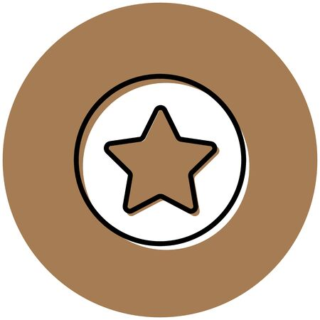 Yellow star button icon vector illustration