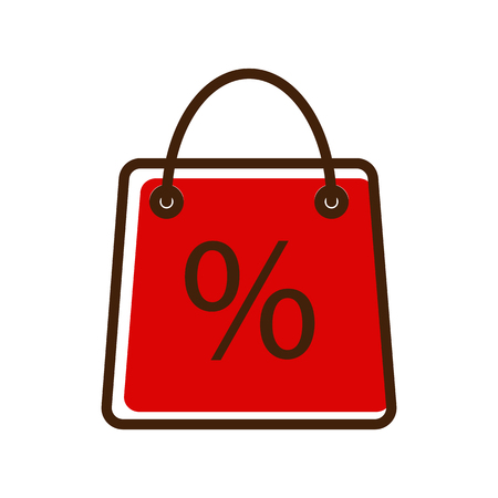 Shopping bag discount icon Illustration