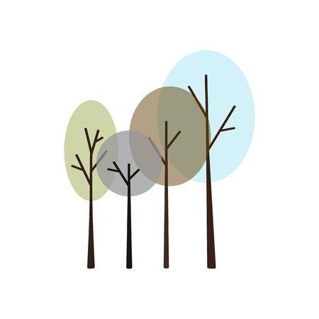 Winter trees icon.