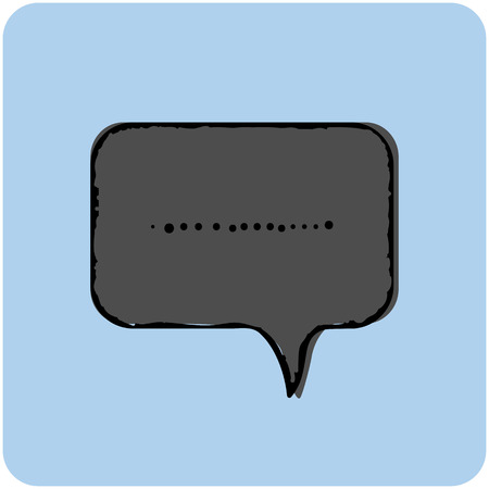 Chat icon with dialog text on blue background