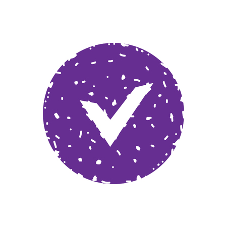 Check, ok, yes icon approved vector illustration.