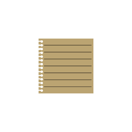 Note paper. List paper flat. Vector illustration on white background