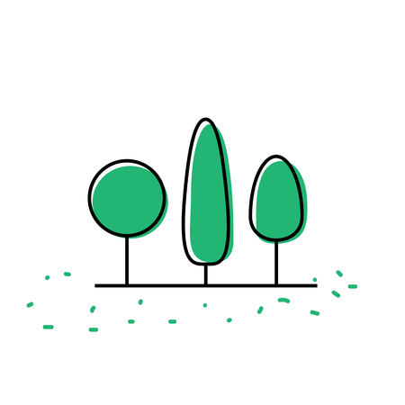 Tree icon vector illustration Ilustracja