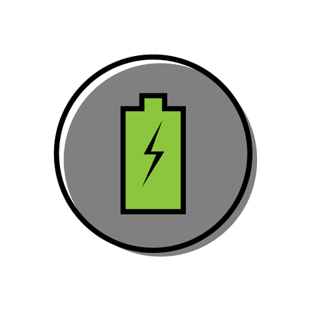 Battery vector icon on white background