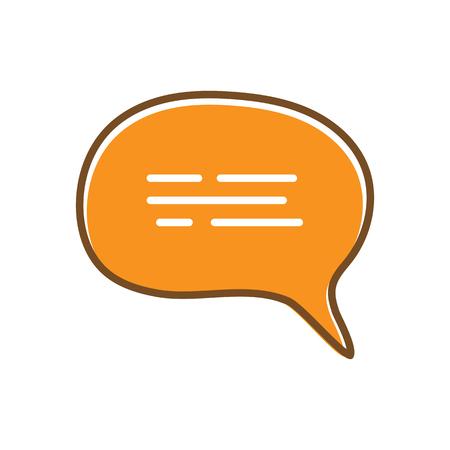 chat icon vector illustration dialog text Illustration