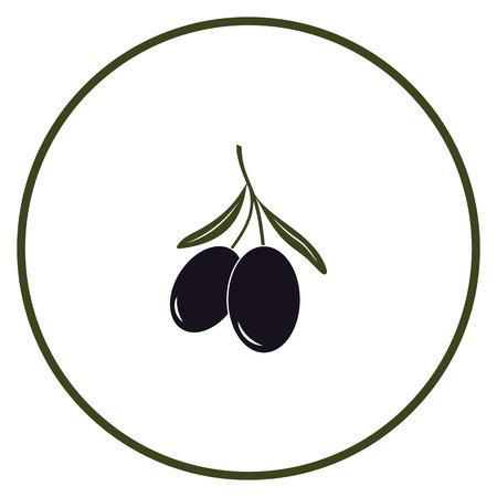 Olive icon vector illustration on white background