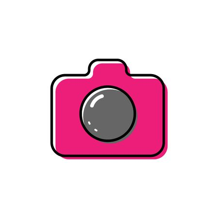 Camera icon vector illustration on white background. 矢量图像