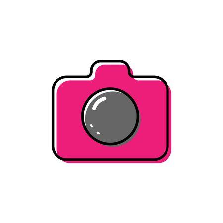 Camera icon vector illustration on white background. Illustration