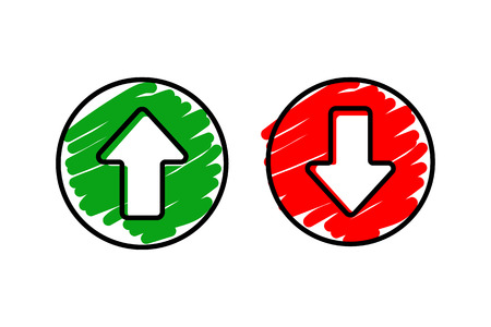 Set icon arrow up and down.
