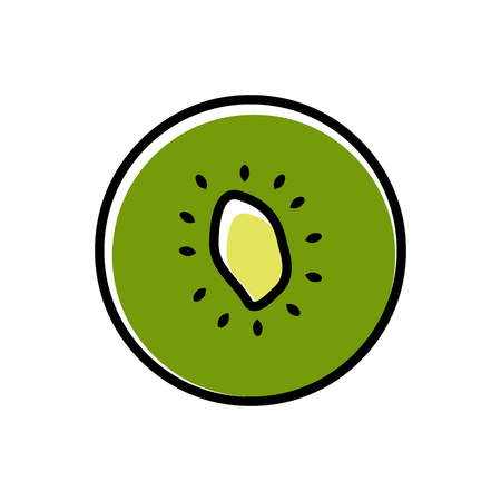 Kiwi icon vectror illustration on white background