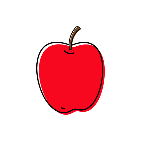 Apple icon vector illustration