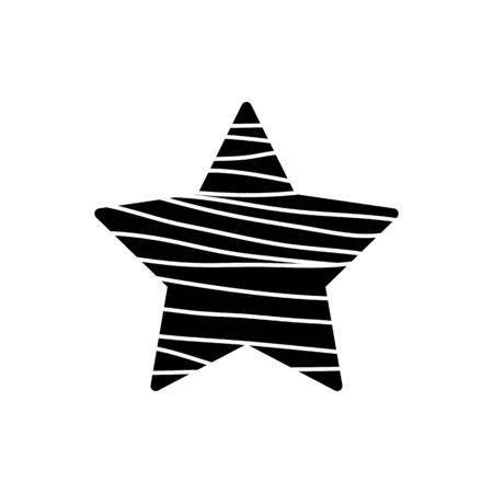 Star button icon Vector illustration. Illustration