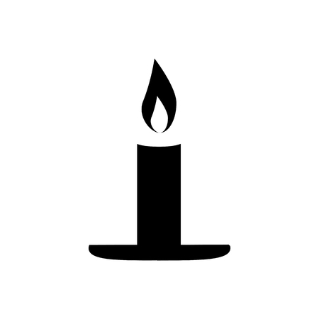 Candle icon vector illustration on white background.