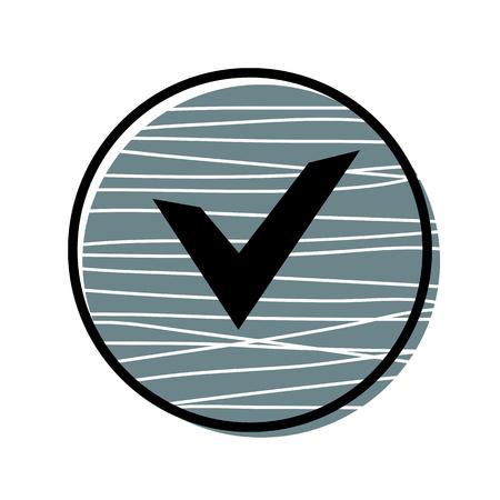 Chek, ok button icon