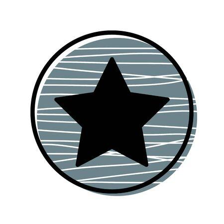 Star button icon.