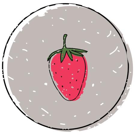 Strawberry icon simple