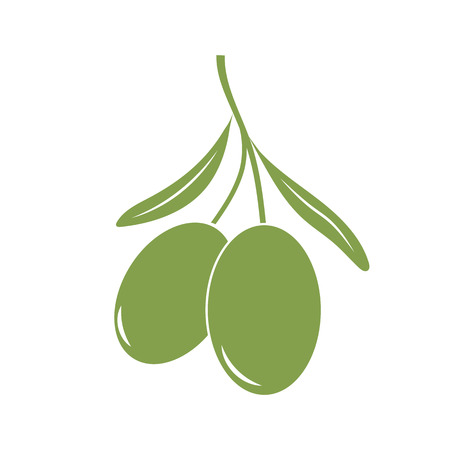 Green olives icon vector