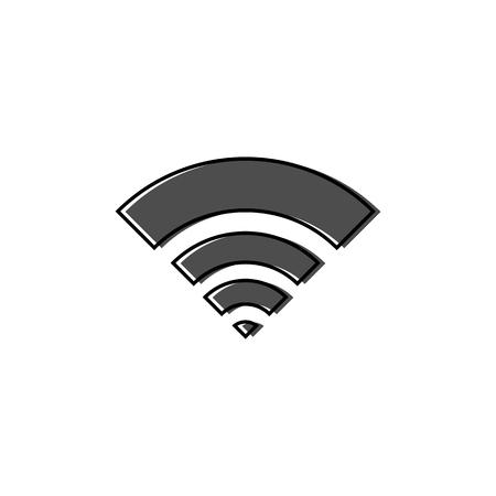 WiFi icon illustration on white background.