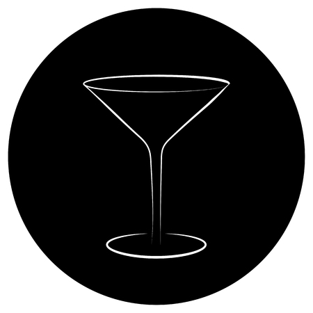 Martini glass vector icon