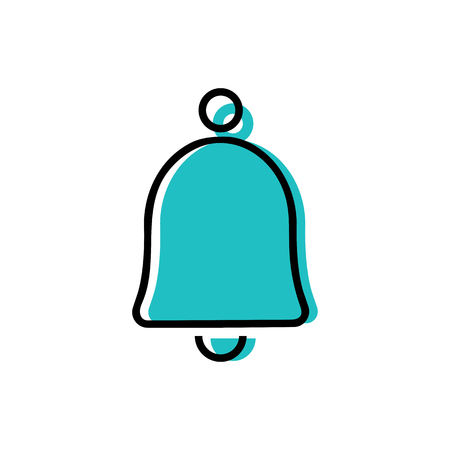 Bell icon vector illustration on the white background