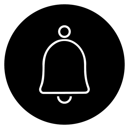 Bell icon vector illustration on the black background