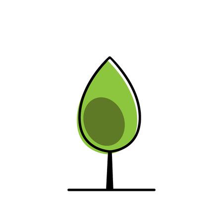 Tree icon vector illustration Фото со стока