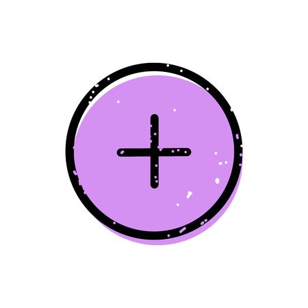 Plus button icon Illustration