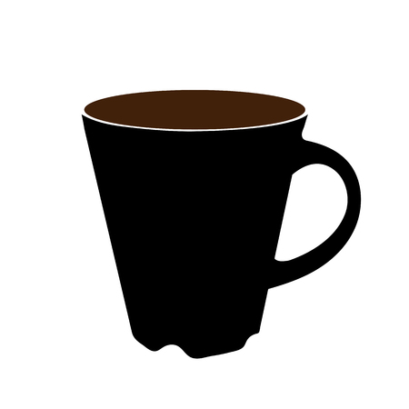 Cup icon vector illustration on white background