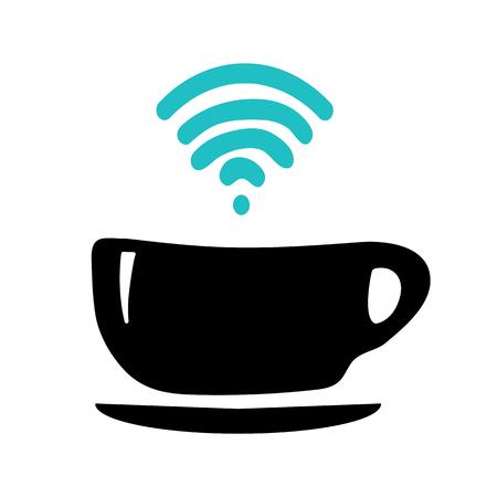 Taza de café con inalámbrico