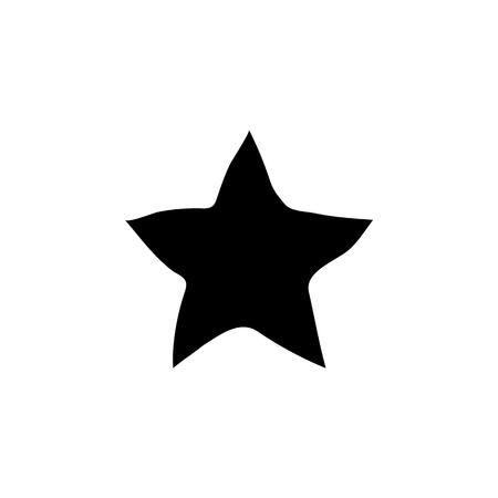 Star button icon vector illustration on white background Illusztráció