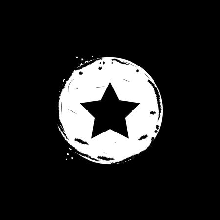 Star button icon vector illustration on black background Illusztráció