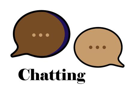 Chat message set. Speach bubbles collection. Vector illustration Illustration