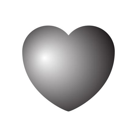 Heart icon. Vector illustration on white background. Eps10