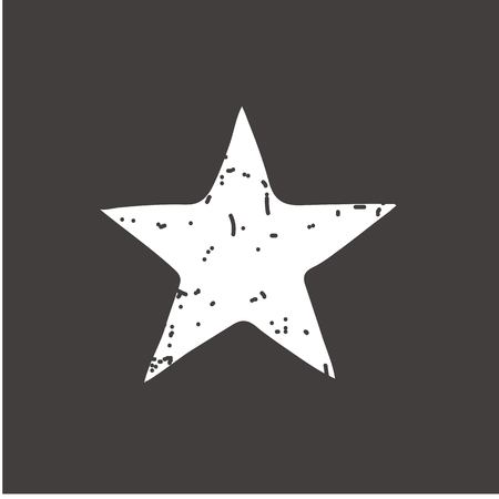 Star button icon vector illustration on gray background. Eps10