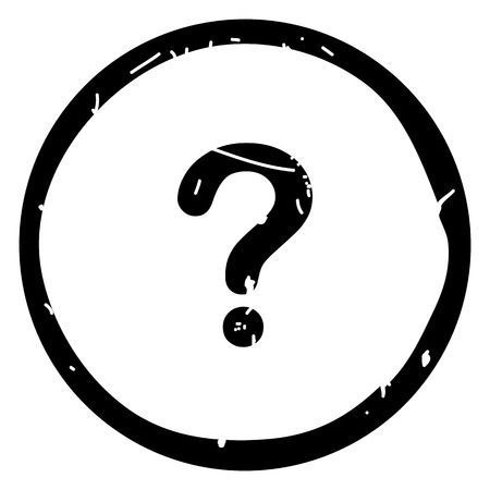 Question button icon vector illustration on white background.Eps10 Banco de Imagens - 127731113