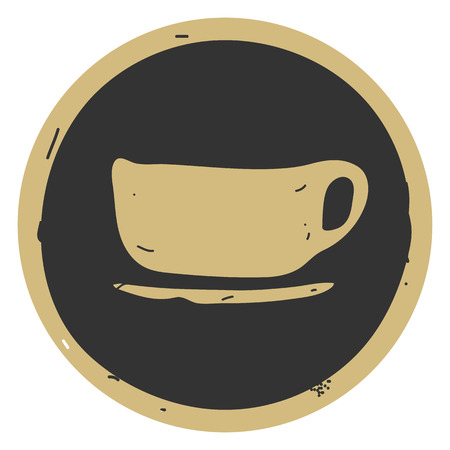 Cup icon vector illustration on gray background. EPS 10