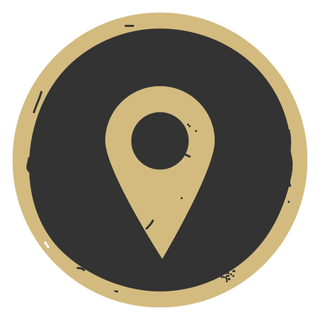 Simple location icon vector illustration on gray background. Eps10 Banco de Imagens - 127509333