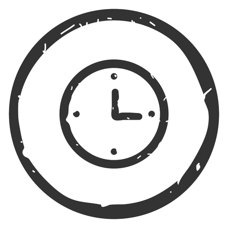 Clock icon vector illustration on white background. Eps10